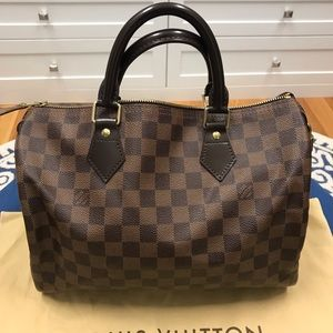 Authentic Louis Vuitton Speedy 25 - Damier Ebene